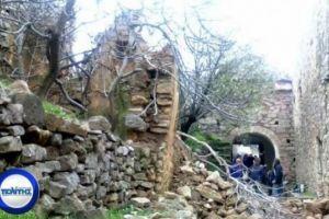 Καταρρέει αβοήθητη η Μονή Μουνδών Χίου – Εκτεταμένες καταστροφές από τις βροχοπτώσεις εντός της ζώνης του Μοναστηριού