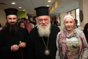 """Τον Σύλλογο """"Η Φλόγα"""" επισκέφθηκε ο Αρχιεπίσκοπος"""