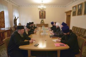 Αντιπροσωπεία του Αγίου Όρους στον Μητροπολίτη Βολοκολάμσκ