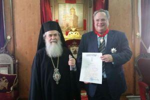 Ο Υπουργός Εξωτερικών Ν. Κοτζιάς στο Πατριαρχείο Ιεροσολύμων