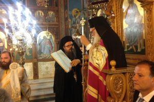 Ο Αρχιεπίσκοπος στον εσπερινό στον ιερό ναό Αγίου Ιωάννου Κυνηγού