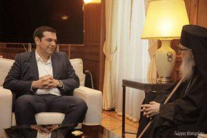 Συνάντηση του πρωθυπουργού με τον Αρχιεπίσκοπο Αμερικής
