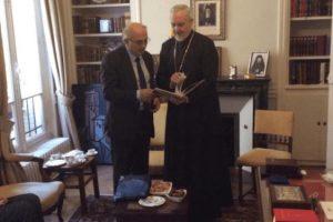 Τον  μητροπολίτη Γαλλίας επισκέφθηκε ο Γιάννης Αμανατίδης