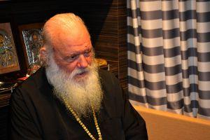 Συνέντευξη Αρχιεπισκόπου Ιερωνύμου στο πλοίο fior de Levante