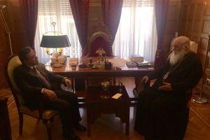 Με τον Αρχιεπίσκοπο Αθηνών συναντήθηκε ο βουλευτής Ν. Νικολόπουλος
