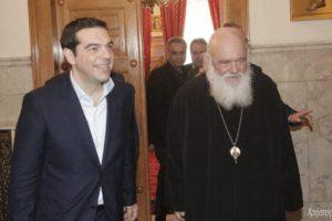 Ο Αρχιεπίσκοπος Ιερώνυμος στο Μέγαρο Μαξίμου δύο φορές.