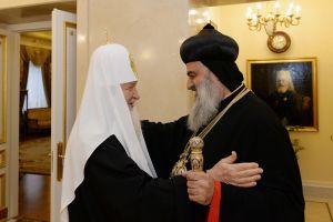 Ο Συροϊακωβίτης Πατριάρχης Ιγνάτιος στον Μόσχας Κύριλλο