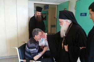 Ο Σεβ. Μητροπολίτης Δημητριάδος στο Γηροκομείο και το Νοσοκομείο Βόλου