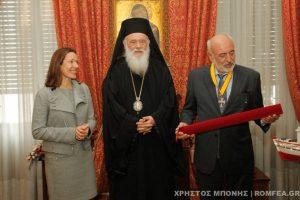 Ο Αρχιεπίσκοπος τίμησε τον Γρηγόριο Καλλιμανόπουλο για την προσφορά του