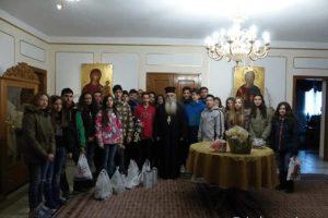 Μαθητές Γυμνασίου στον Μητροπολίτη Καστορίας (ΦΩΤΟ)