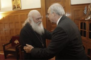 Toν Αρχιεπίσκοπο Αθηνών και πάσης Ελλάδος επισκέφθηκε ο υποψήφιος πρόεδρος της Ν.Δ. κ. Ευάγγελος Μεϊμαράκης.