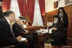 Αρχιεπίσκοπος προς τον Πρόεδρο της Παλαιστινιακής Αρχής : Κάθε λαός έχει δικαίωμα για το κράτος του!