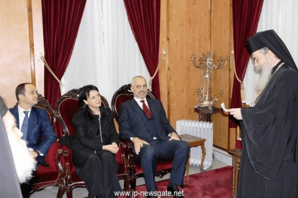 You are currently viewing Ο Πρωθυπουργός της Αλβανίας στο Πατριαρχείο Ιεροσολύμων (ΦΩΤΟ)