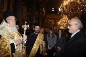 Χειροθεσία νέου Οφφικιάλου της Μ.Χ.Ε. από τον Οικουμενικό Πατριάρχη