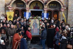 Λιτανεία των λειψάνων της αγίας Κυράννας της Οσσαίας