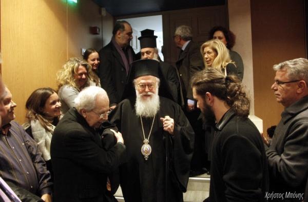 """Κοσμοπλημμύρα για τον Αρχιεπίσκοπο Αλβανίας Αναστάσιο και το νέο βιβλίο του """"Συνύπαρξη""""."""