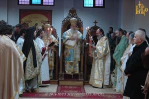 Αρχιερατικό συλλείτουργο στην Αρτα, για τον Όσιο Μάξιμο τον Γραικό