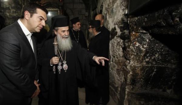 Συνάντηση Πατριάρχη Ιεροσολύμων με τον Πρωθυπουργό