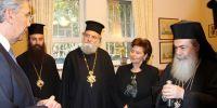 Η παρουσίαση της μελέτης των εργασιών συντήρησης του Κουβουκλίου του Παναγίου Τάφου στον Πρωθυπουργό Αλ.Τσίπρα