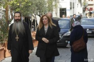 Η πρόεδρος του ΠΑΣΟΚ στον Αρχιεπίσκοπο Ιερώνυμο