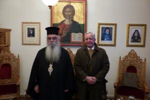 Ο Πρέσβης των ΗΠΑ στον Μητροπολίτη Καστορίας Σεραφείμ