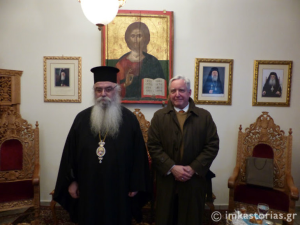 You are currently viewing Ο Πρέσβης των ΗΠΑ στον Μητροπολίτη Καστορίας Σεραφείμ