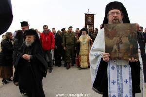 Εορτασμός των Θεοφανείων στον Ιορδάνη Ποταμό