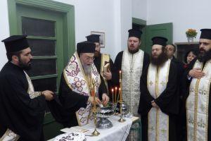 Αγιασμός στο Εργαστήρι Εκκλησιαστικών Τεχνών της μητρόπολης Κορίνθου