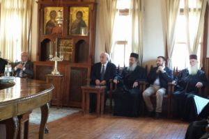 O  Υφυπουργός  Εξωτερικών κ.Αμανατίδης  στον Άγιον Όρος