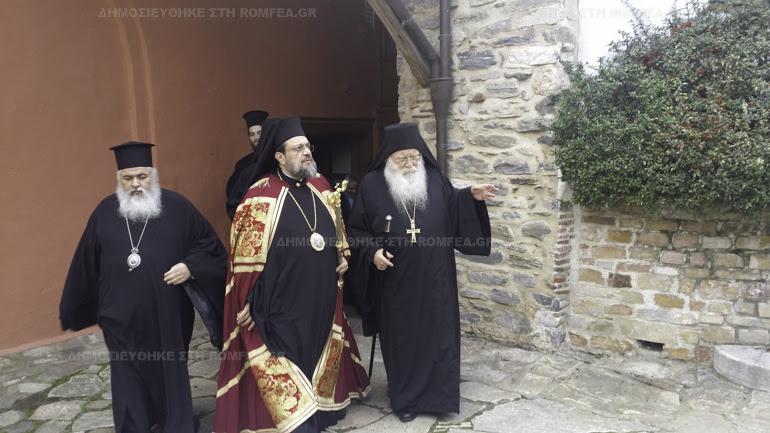 Ο Μεσσηνίας Χρυσόστομος Γ´ στην Ιερά Μονή Ξενοφώντος