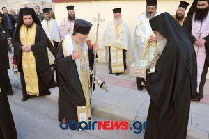 Υποδοχή χειρός Αγίου Αρσενίου του Καππαδόκου στο Μεσολόγγι