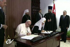 Κοινό ανακοινωθέν Πάπα – Πατριάρχη Ρωσίας