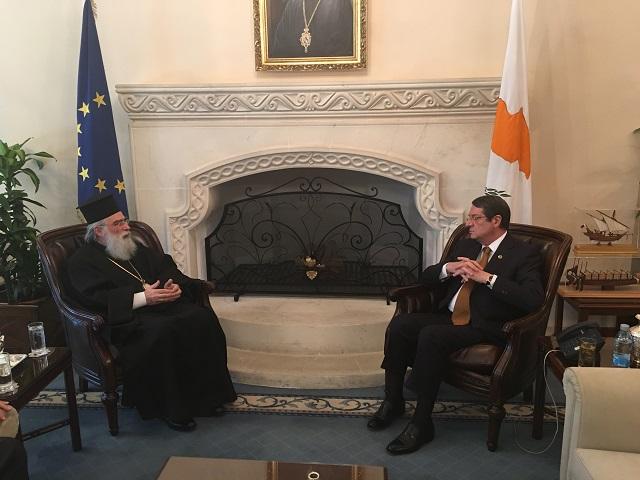 Ο δυναμικός Μητροπολίτης Βόστρων Τιμόθεος συνάντησε τον Πρόεδρο Κύπρου.