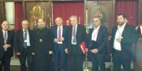 Έλληνες υπουργοί στην Αγία Φωτεινή της Σμύρνης και συνάντηση με τον Αρχιμ. Κύριλλο Συκή