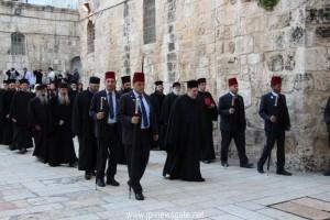 Η Ακολουθία της Α' Στάσεως των Χαιρετισμών στο Πατριαρχείο Ιεροσολύμων