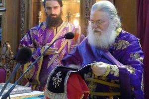 Προηγιασμένη Θεία Λειτουργία τέλεσε ο Γέροντας Εφραίμ στην Καστοριά