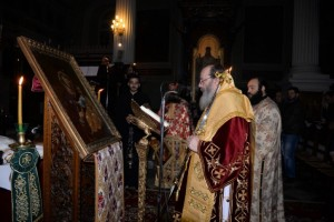 Αγρυπνία στον Ι. Ν. Αγ. Ανδρέα για τα ονομαστήρια του επισκόπου Κερνίτσης
