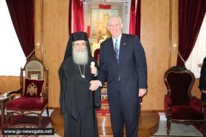 Ο Κυβερνήτης του Missouri των ΗΠΑ,στο Πατριαρχείο Ιεροσολύμων