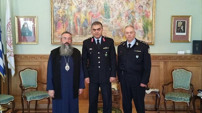 Εθιμοτυπική επίσκεψη των νέων Αστυνομικών Διευθυντών Κρήτης και Ρεθύμνου στον Μητροπολίτη Ρεθύμνης