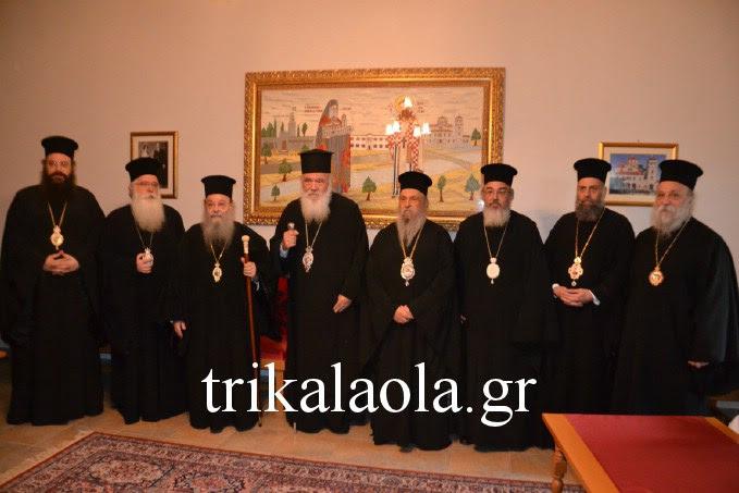 Αρχιεπίσκοπος και Ιεράρχες ευχήθηκαν στον Γέροντα Τρίκκης Αλέξιο
