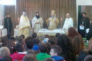 Θεία Λειτουργία σε δημοτικό σχόλειο τέλεσε ο μητροπολίτης Χαλκίδος