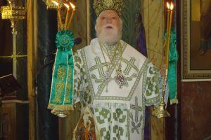 Ο Κορωνείας Παντελεήμων  στον Αγ. Κωνσταντίνο Πειραιώς για την Κυριακή των Βαίων