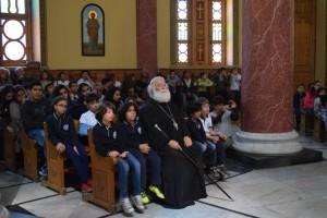 Μαθητές υποδέχθηκε ο Πατριάρχης στον Άγιο Γεώργιο παλαιού Καΐρου