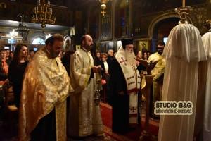 Ο Αργολίδος Νεκτάριος τέλεσε την  Γ ´Στάση των Χαιρετισμών, στην Αγία Τριάδα Προνοίας Ναυπλίου