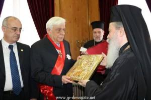 Ο Πρόεδρος της Ελληνικής Δημοκρατίας στο Πατριαρχείο Ιεροσολύμων (VIDEO+ΦΩΤΟ)