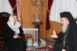 Στο  Πατριαρχείο Ιεροσολύμων η σύζυγος του Πρωθυπουργού της Ρωσίας