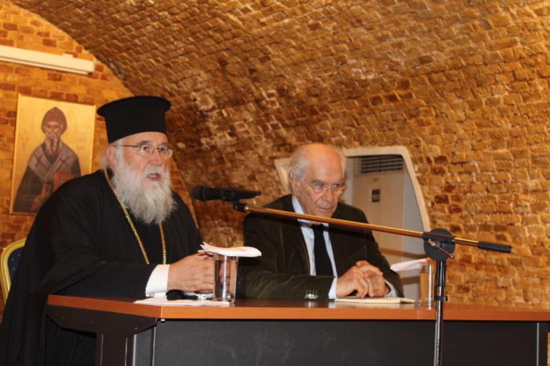 Ο Καθηγητής Χρήστος Γιανναράς στην Ιερατική Σύναξη της Ι.Μ. Κερκύρας