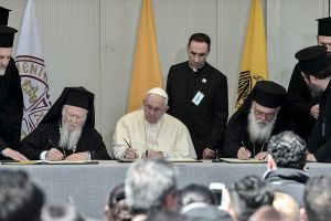 Η Κοινή Διακήρυξη των τριών Προκαθημένων στην Λέσβο