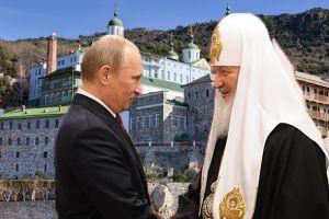 """""""Απόβαση"""" του Βλαντιμίρ Πούτιν και του Πατριάρχη Μόσχας στο Άγιο Όρος"""