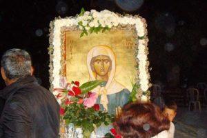 Kοσμοσυρροή στον Ι.Ν. Αγίας Ματρώνας στην Τοξεύτρα